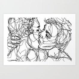 Boys kiss too Art Print