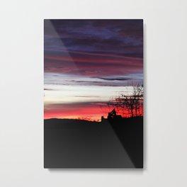 Sunset Machine Metal Print