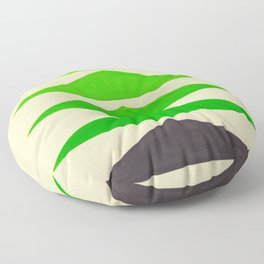 Colorful Green Geometric Triangle Pattern Floor Pillow