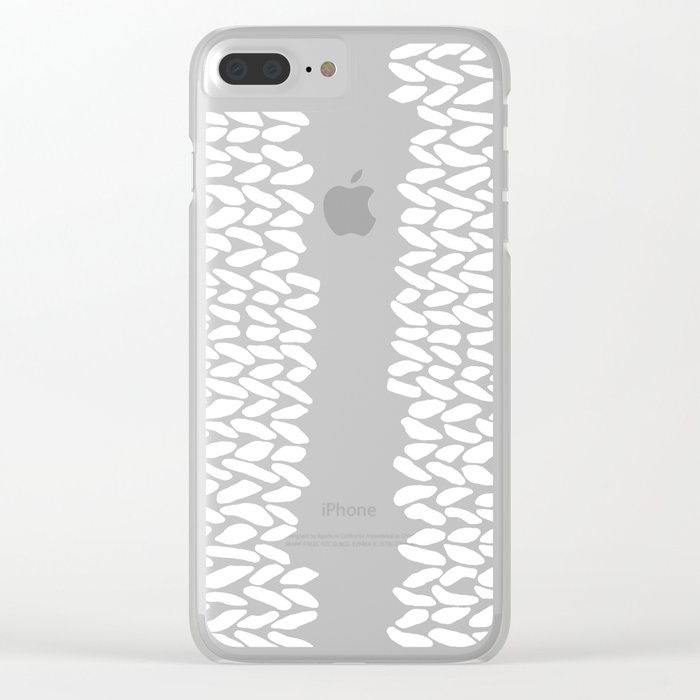 Missing Knit On Side Clear iPhone Case