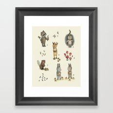 Numbers, Animals and numbers. Framed Art Print