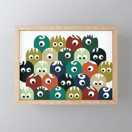 absolutely human monster Framed Mini Art Print