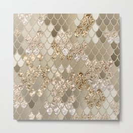 Mermaid Glitter Scales #5 (Faux Glitter) #shiny #decor #art #society6 Metal Print