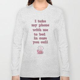call me! Long Sleeve T-shirt