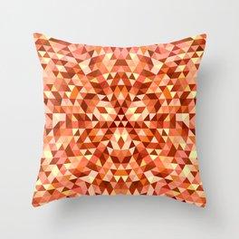 Hot triangle mandala Throw Pillow