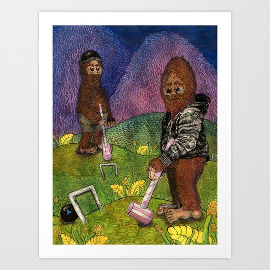 Croquet Art Print