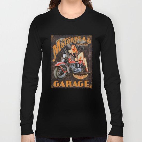 Motorhead Garage Vintage Poster Long Sleeve T-shirt