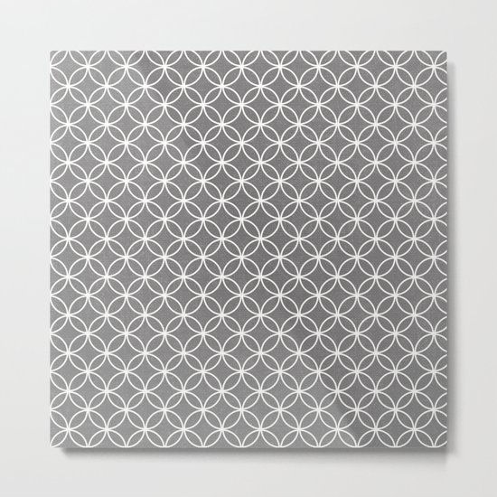 wedding ring pattern-gray Metal Print