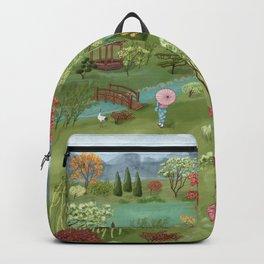 Wabi Sabi Japanese Garden Scene Backpack