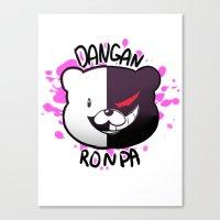 dangan ronpa Canvas Prints featuring Dangan Ronpa by zamiiz