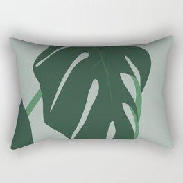 Fig Leaf Nature Print Rectangular Pillow