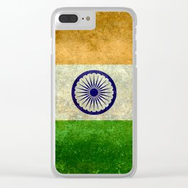Flag of India - Retro Style Vintage version Clear iPhone Case