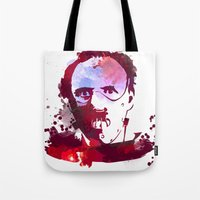 hannibal Tote Bags featuring Hannibal by BIG Colours