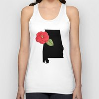 alabama Tank Tops featuring Alabama Silhouette by Ursula Rodgers