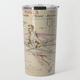 1869 Patent Drawing of a Flying Machine Travel Mug