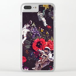 Flowers and Astronauts Clear iPhone Case