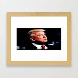 Donald Trump. Framed Art Print