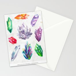 Watercolor Crystals Stationery Cards
