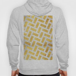 Brick Pattern 1 in Gold and Silver Hoody