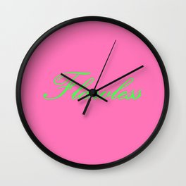 Flawless Pink & Green Wall Clock