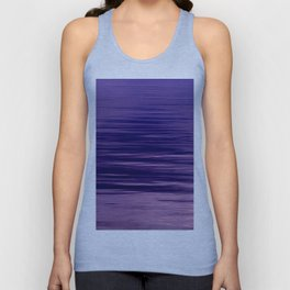 Movement of Water on a Calm Evening- Violet Abstraction Unisex Tank Top
