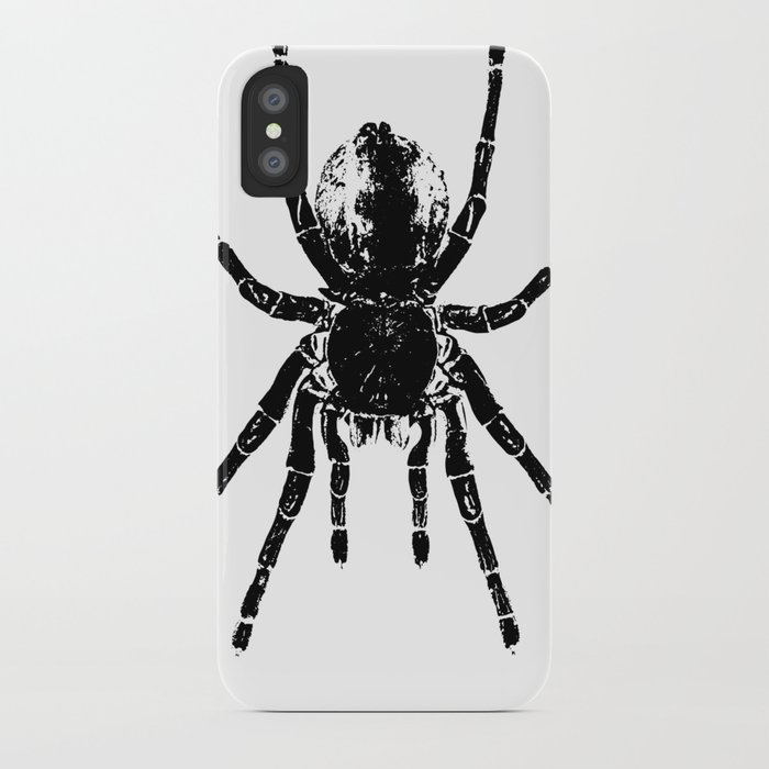 12c913d0 Scary Tarantula Spider Halloween Black Arachnid iPhone Case by ...