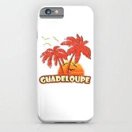 Guadeloupe Vintage Sunset iPhone Case