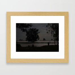 Fog on a Calm Spring Night Framed Art Print