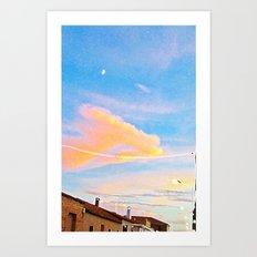 Pueblo Moon Art Print