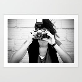 smile you're on canon camera Art Print