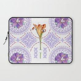 Gothic Revival Daylily Lace Laptop Sleeve
