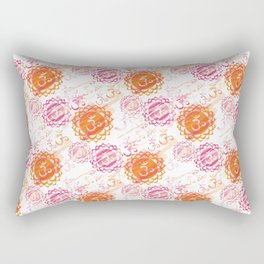 Om Colorful Rectangular Pillow