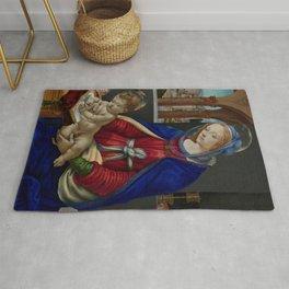"""Filippino Lippi """"Madonna and Child"""" Rug"""