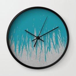 Concrete Fringe Teal Wall Clock