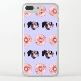 Doxies and Donuts in Light Purple Clear iPhone Case