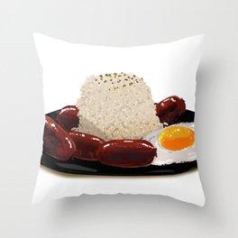 longsilog (pork longganisa, egg, fried rice) -filipino food Throw Pillow