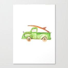 Green Truck Canvas Print
