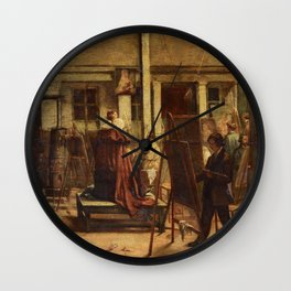 F Marshall - The Painting Class in the Studio Wall Clock