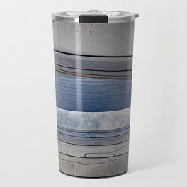 View of the Sky in an Urban Metal Slot Canyon Travel Mug