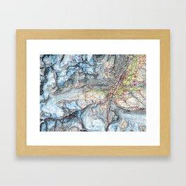 Matterhorn Zermat Map Framed Art Print