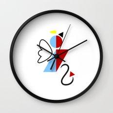 Dengel (Angel + Devil) Wall Clock