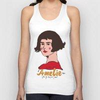 amelie Tank Tops featuring Amelie Print 3 by Saffa Khan