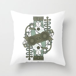 SINS Mentis - Envy Jack of Clubs Throw Pillow