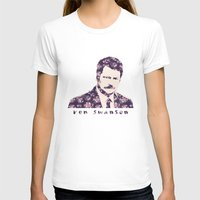 ron swanson T-shirts featuring Ron Swanson by MisfitKismet Designs