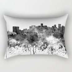 Denver skyline in black watercolor Rectangular Pillow