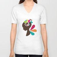 child V-neck T-shirts featuring Child by Irmak Akcadogan