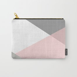 Geometrics - grey blush silver Carry-All Pouch