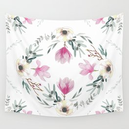 Floral Square Wall Tapestry