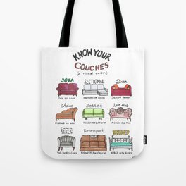 Know Your Couches: A Visual Guide Tote Bag