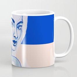 Blue and pink portrait Coffee Mug